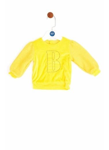 BG Baby Kız Bebek Sarı Kazak Sarı